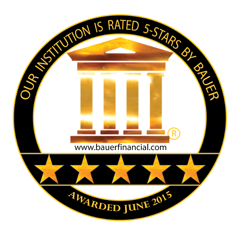 OUR INSTITUTION IS RATED 5 STARS BY BAUER - AWARDED JUNE 2015